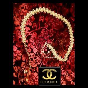 👑New! CHANEL Pearl Crystal CC Belt!👑